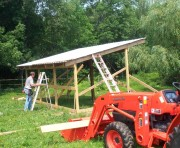 Rus building the horse shed
